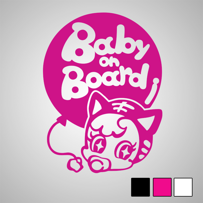 Стикер Baby on Board Cat