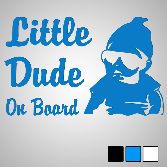 Стикер Little Dude on board